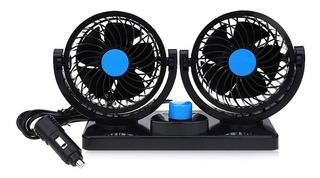 Ventilador Doble Para Auto Con Conexión 12v Rotacion 360º ®