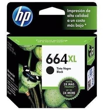 Cartucho Hp 664 Xl Negro 2135/3635/4535/3775/3785 Original