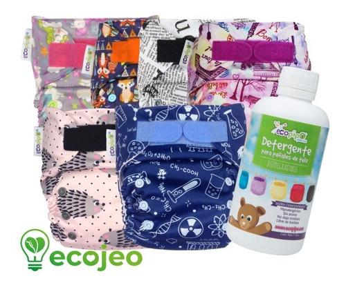 Imagen 1 de 2 de == 6 Pack Ecopipo Pañales De Tela Estampados + Detergent  ==