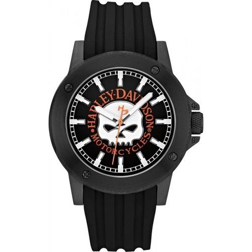 Relógio Bulova Masculino Harley Davidson Wh30466p Preto