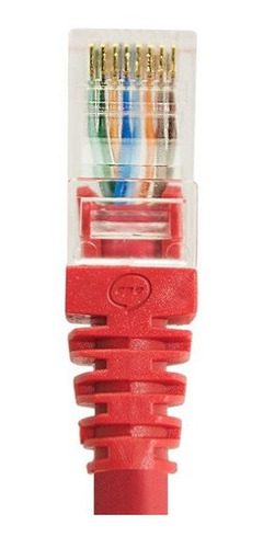 Imagem 1 de 3 de Kit 24 Patch Cord Cat6 Vermelho 20cm