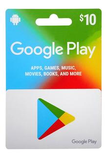 Google Play Store 10 Dolarés Región Us