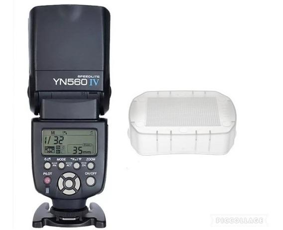 Flash Yongnuo Yn 560iv Para Canon E Nikon Sony+difusor