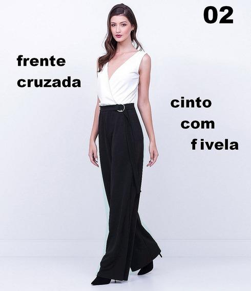 Macacão Social Tipo Pantalona Fivela Festa Lindos Modelos