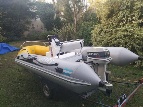 Semirrigido 430 Shark 2012 Johnson 35 Hp Inmaculado Oferton!