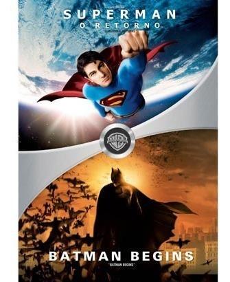 Box - Superman O Retorno + Batman Begins (4 Dvds) Lacrado