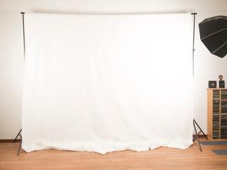 Fondo Infinito De Tela Blanco Para Fotografia - Blackdrop