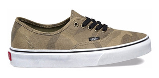 Zapatillas Vans Mod Authentic Camuflado Verde! Ultimos Pares