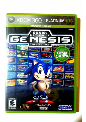 Sonic Ultimate Genesis Collection Xbox 360 Lenny Star Games