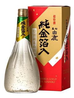 Saque Hakushika Sake Gold Flocos Ouro 720ml Presente