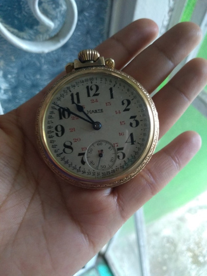 Reloj Antiguo De Bolsillo Haste 17 Jewels Swiss
