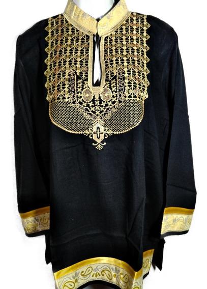 Blusa Importado Hecho En Pakistan - Negro Y Dorado - Xl6bfa
