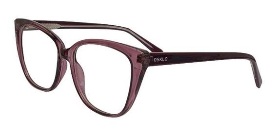 Oculos Original Osklo Armação De Grau Moda Feminino 015