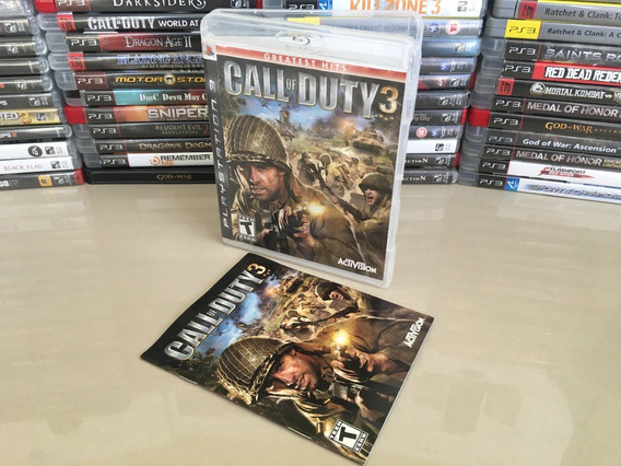 Call Of Duty 3 Ps3 - Original - Semi Novo - Dvd