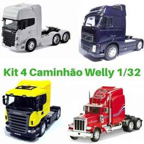 Oferta 4 Carreta Caminhão Coleção De Ferro Welly 1/32 Novo