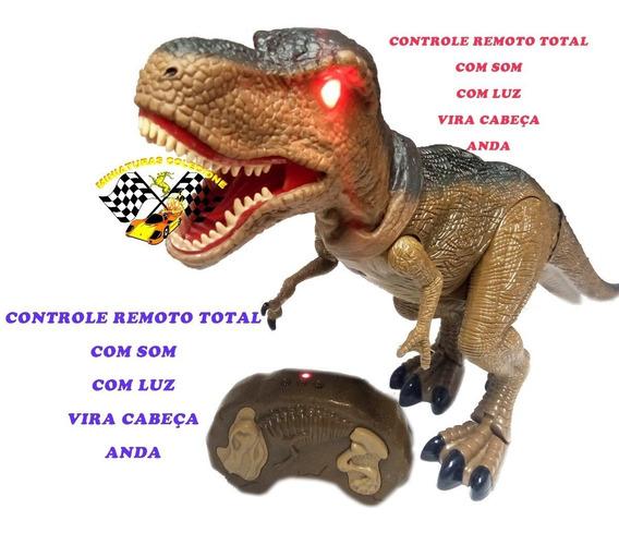 Dinossauro Rex Controle Remoto Som E Luz
