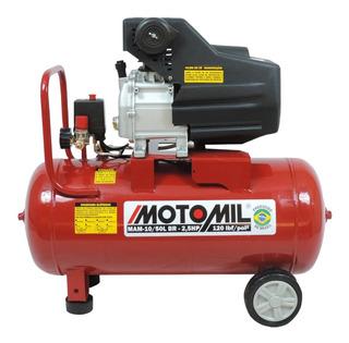 Compressor De Ar 50 Litros 8,7 Pés 2 Hp 120 Lbs Mam Motomil