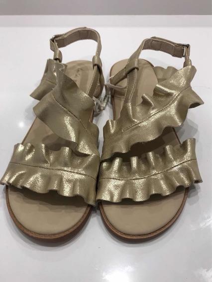 Sandalias Volados Dorado Zara Girls