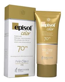 Protetor Solar Color Pele Clara Fps 70 Episol Mantecorp Skin