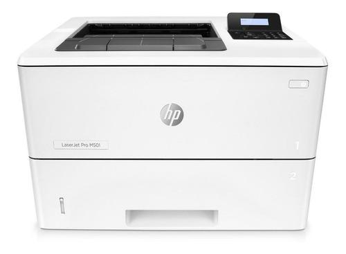 Imagen 1 de 4 de Impresora simple función HP LaserJet Pro M501dn blanca 100V/240V