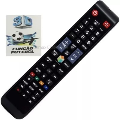 Kit 10 Controle Remoto Tv Samsung Smart Vc 8083
