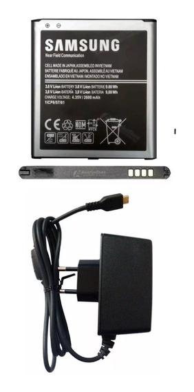 Kit Bateria G530 Gran Duos J2 Prime J3 J5 + Carregador Usb