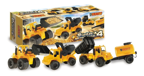 Set 4 Camiones Duravit - Camion De Juguete - Camioncitos