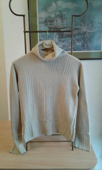 Liquida Sweater Mujer Pura Lana Crudo System Basic