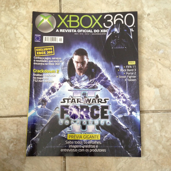 Revista Xbox 360 45 Star Wars The Force Unleashed 2