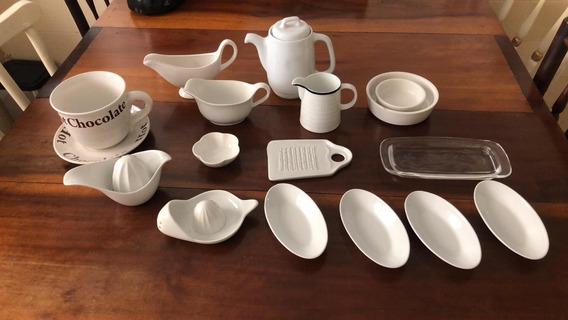 Lote De Porcelanas Utensílios De Cozinha 16 Peças