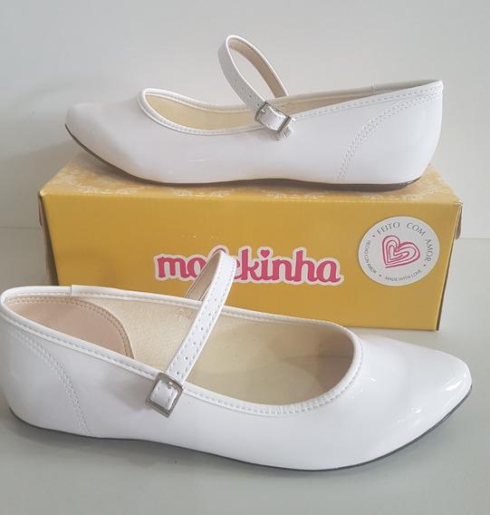 Sapato Molekinha Verniz Premium Branco 2506.208