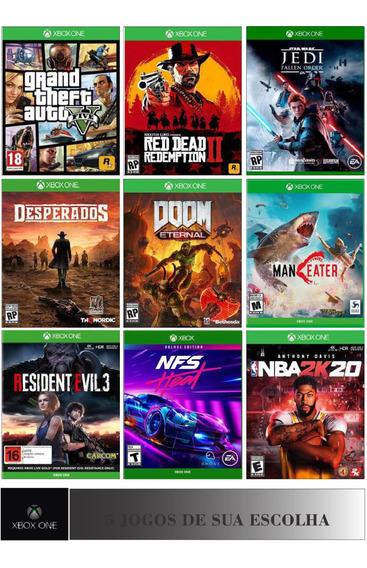 Pacote De 5 Jogos Xbox One Digital