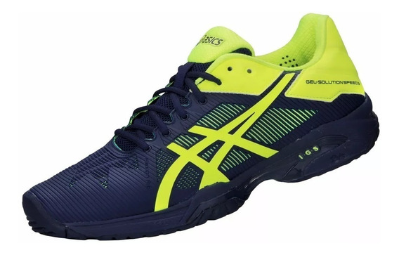 Tênis Asics Gel Solution Speed 3 Azul Original+nf