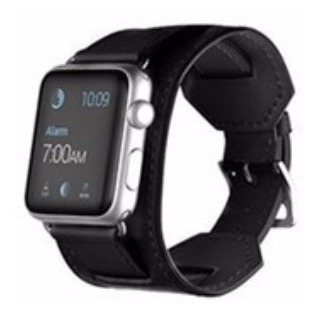 3 Pulseiras Couro Estilo Hermes P/ Apple Watch 38/40mm Preta