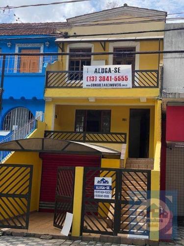 Imagem 1 de 30 de Casa Com 3 Dormitórios À Venda, 310 M² Por R$ 880.000,00 - Campo Grande - Santos/sp - Ca1224