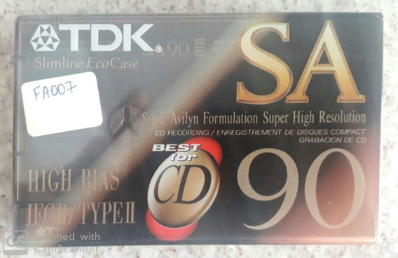 Fita K7 Tdk Sa-x 90 Lacrada! Lacrada - Frete 10,00