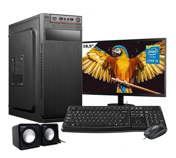 Computador Completo Intel I5 8gb Hd500gb Wifi C/ Monitor W10