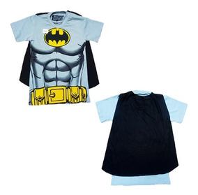 Camiseta Com Capa Batman Roupa Infantil De Menino Barato
