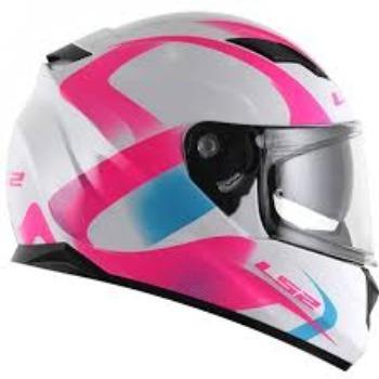 Capacete Ls2 Ff320 Stream Velvet Wht/pink