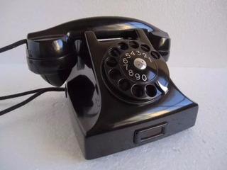 Telefone Ericsson De Baquelite Preto Antigo Retro Anos 50