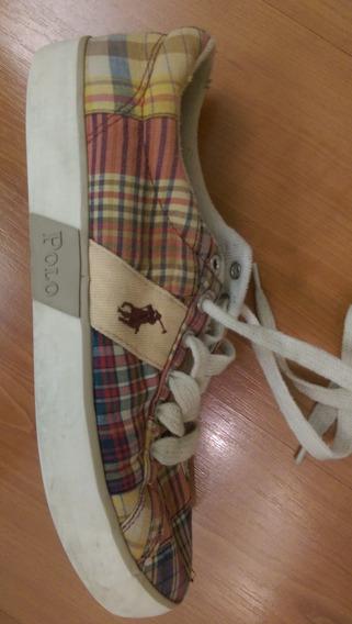 Zapatillas Casuales Ralph Lauren Polo Cuadrille Importadas