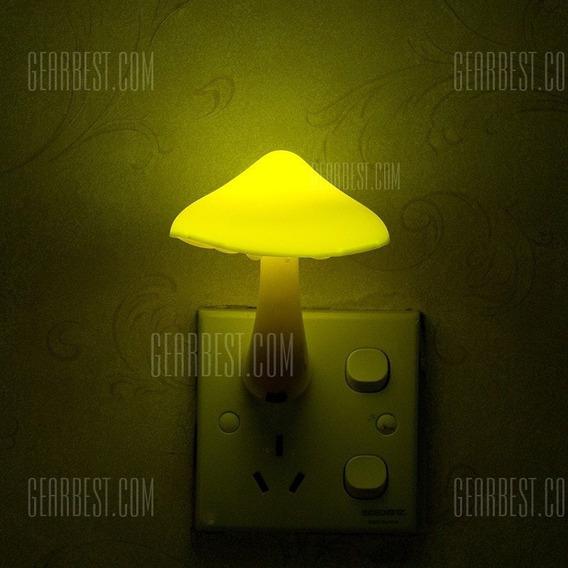 Luz De Noite Com Luz Led Leve Criativa De Cogumelos