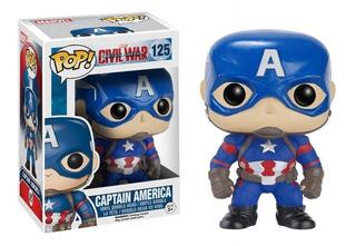 Funko Pop Civil War Capitán América 125 Nryj