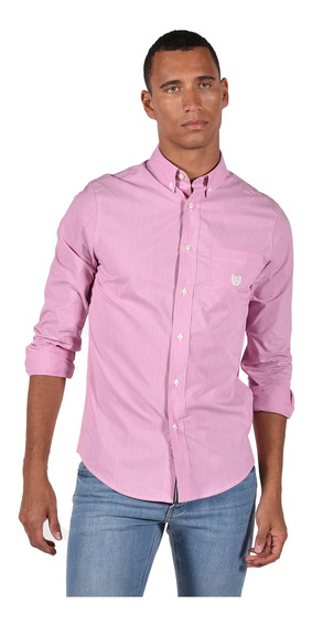 Camisa Stretch Fit Chaps Rosa 750735462-36ip Hombre
