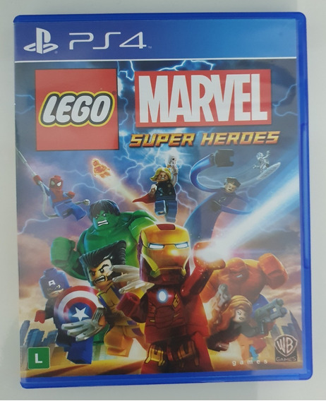 Lego Marvel Super Heroes Ps4 M. Física Seminovo
