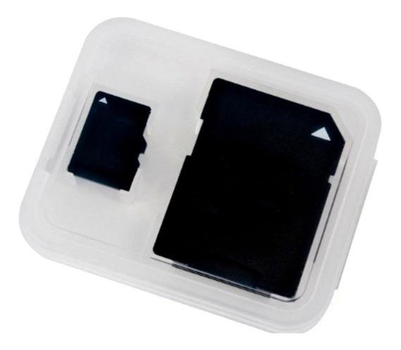 10 Case Capa Porta Cartão De Memória 2 Em 1 Sd Sdhc Micro Tf
