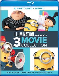 Blu-ray + Dvd Despicable Me / Mi Villano Favorito / 3 Films