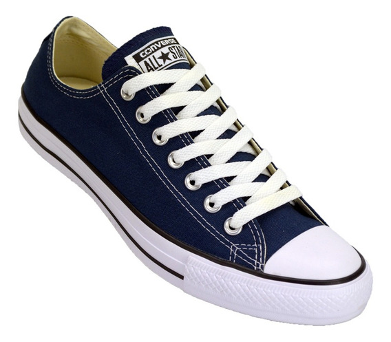 Zapatilla Converse All Star Low Lona Color Original Azu/ngo
