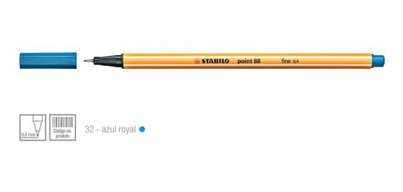 Caneta Hidrográfica Escolar Stabilo 1 Unidade Azul Royal
