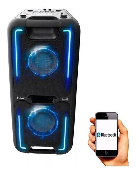 Caixa Som Pcx5500 Bluetooth 200w Rms Potente Philco+n/fisca